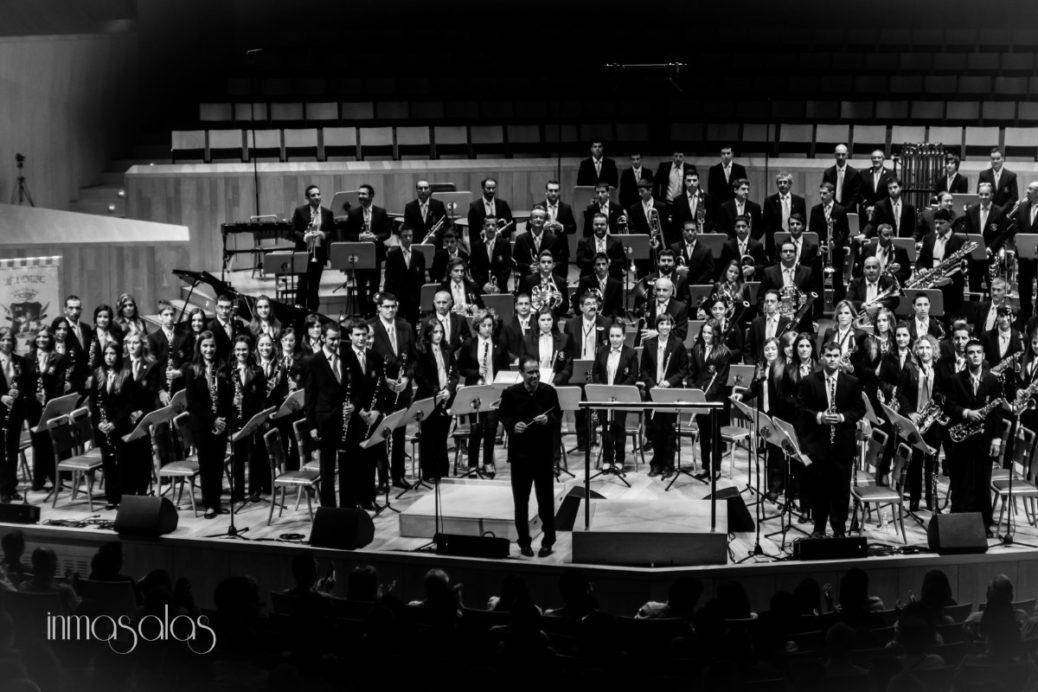 Soberbio concierto de la Banda de Música de Ejea en el Auditorio de Zaragoza