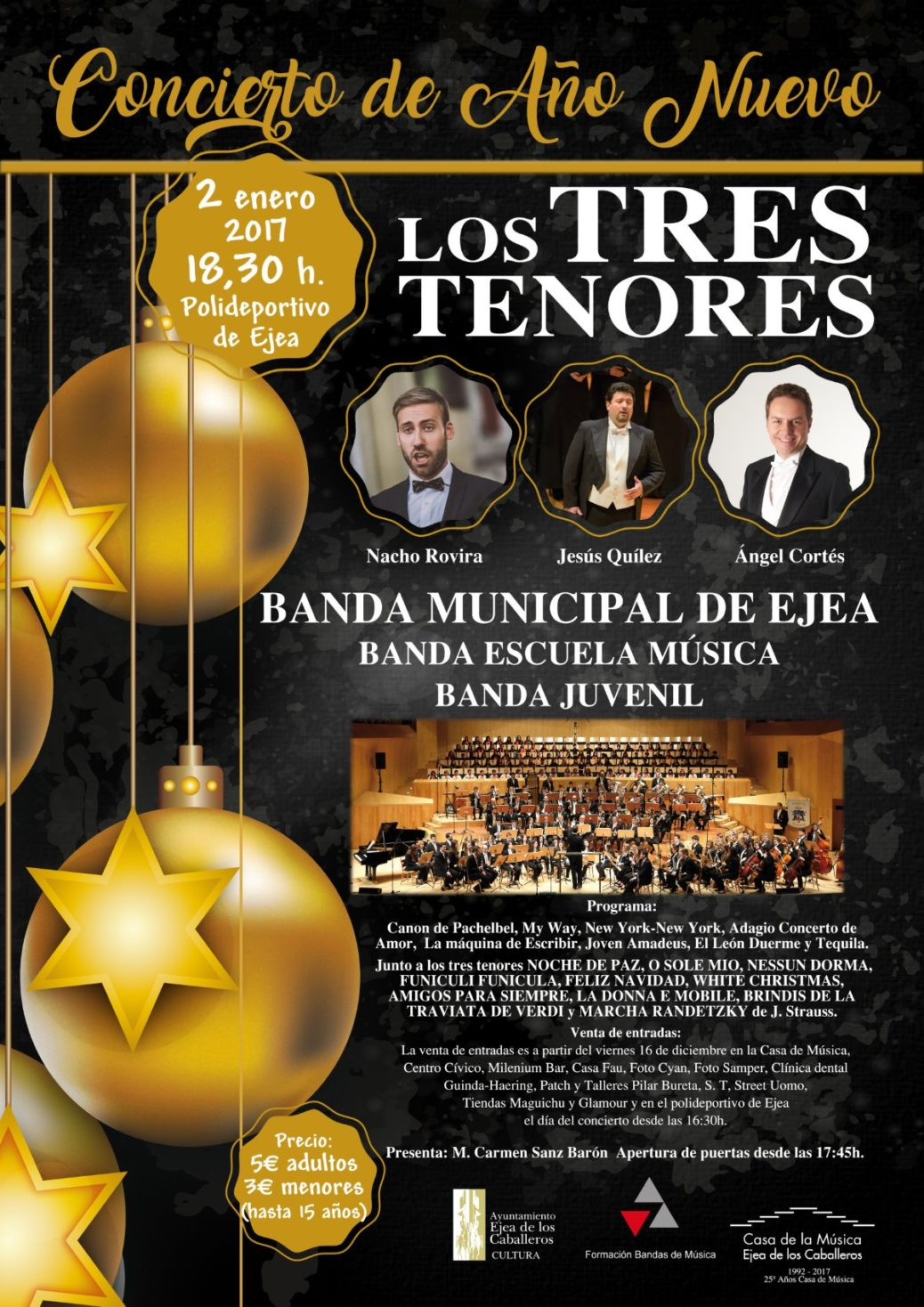 """Concierto de Año Nuevo """"Los TRES TENORES"""""""