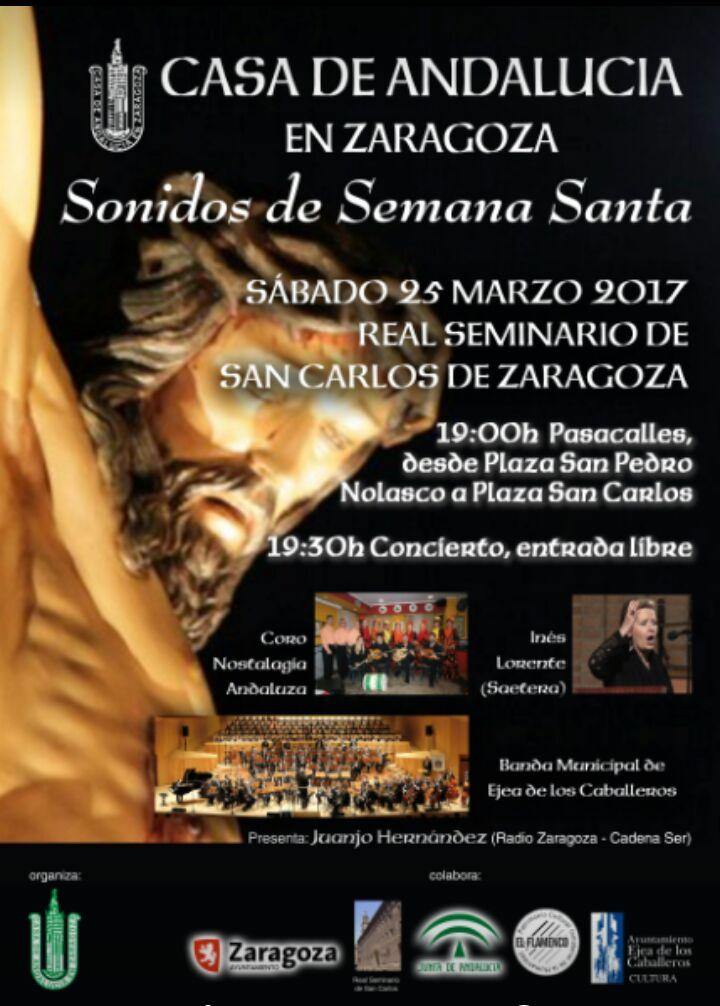 CONCIERTO DE MARCHAS PROCESIONALES  EN LA IGLESIA DEL REAL SEMINARIO DE SAN CARLOS DE ZARAGOZA: