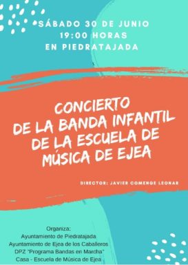 CONCIERTO DE LA BANDA INFANTIL DE LA ESCUELA DE MUSICA DE EJEA