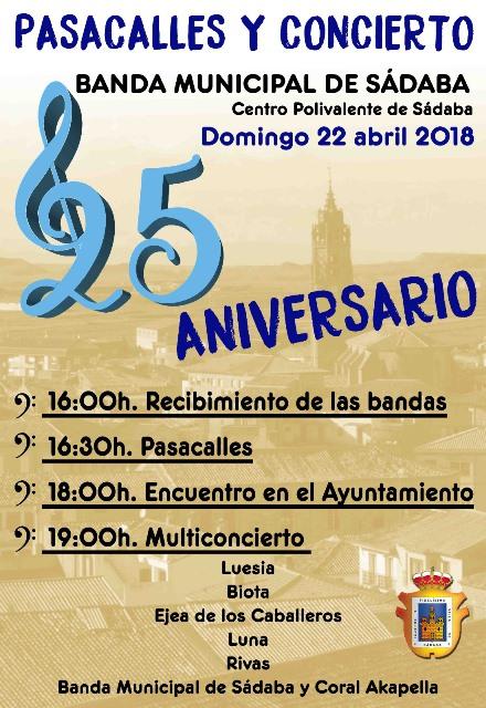 25 ANIVERSARIO DE LA BANDA DE SADABA