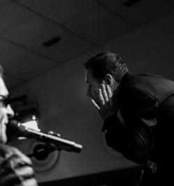 Javier Comenge y Serafín Zubirí en un momento de la actuación.